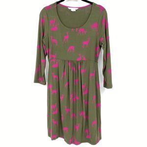 Boden Tunic Dress Deer Print